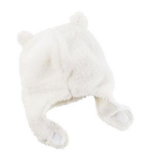 Carters Sherpa faux fur newborn baby hat beanie
